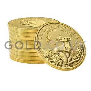 Gold Royal Mint Year of the Rat 1oz (2020)