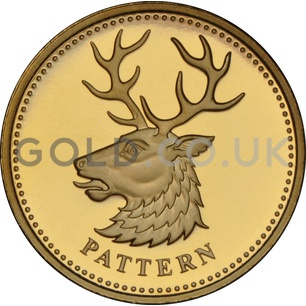 One Pound Gold Coin -White Hart of Northern Ireland  Pattern (2004)
