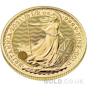 Half Ounce Gold Britannia Coin (2021)