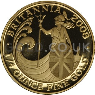 2008 Quarter Ounce Proof Britannia