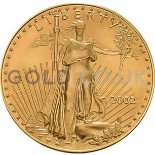 2002 1 oz Gold America Eagle