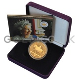 Gold Five Pound Proof Coin, Golden Jubilee Boxed (2002)