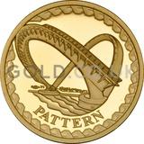 One Pound Gold Coin - Millennium Bridge - Pattern (2003)