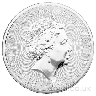 Silver White Greyhound of Richmond, Queen's Beast 2oz Coin (2021)