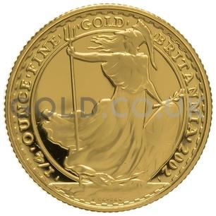 2002 Quarter Ounce Proof Britannia