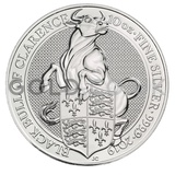 10oz Silver Coin - The Black Bull of Clarence of England (2019)