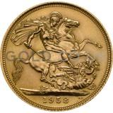 Gold Elizabeth II Sovereign (1958)