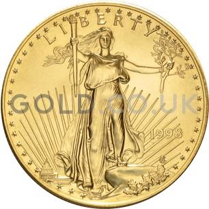 1998 1 oz Gold America Eagle
