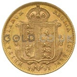 1891 Victoria Jubilee Head Shield Back Gold Half Sovereign (London Mint)
