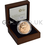 Gold Proof Five Pound - Restoration of the Monarchy Boxed (2010)