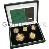 Gold Proof Sovereign Four Coin Boxed Set (2001)