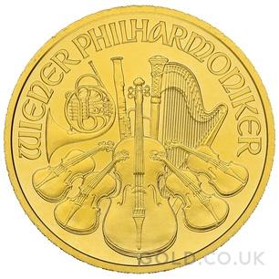 Gold Philharmonic Half Ounce Coin (2020)