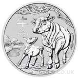 Silver Perth Mint Year of the Ox 2oz (2021)
