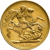1896 Victoria Old Head Gold Sovereign (Melbourne Mint)