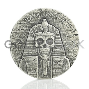 Ramesses II (after Death) 2-Ounce Silver Coin (2017)