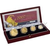 Proof Gold Britannia 4-Coin Box Set (2007)