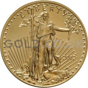 2012 1/2 oz Gold America Eagle