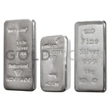 Storage - VAT Free 1 Kilo Silver Bullion Bar