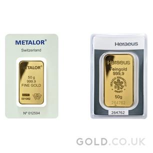 50g Gold Bar (Best Value)