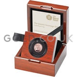 Gold Proof Quarter Sovereign Boxed (2019)