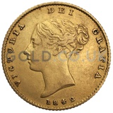 Victoria Young Head Shield Back Gold Half Sovereign