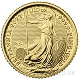 Tenth Ounce Gold Britannia Coin (2022)
