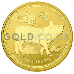 Gold Perth Mint Year of the Pig 1oz Gift Boxed (2019)
