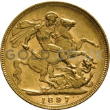 1897 Victoria Old Head Gold Sovereign (Melbourne Mint)