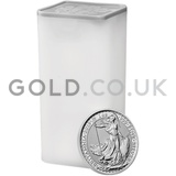 Tube of 25 x 1oz British Silver Britannia