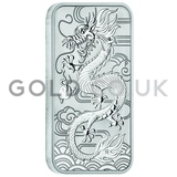1oz Dragon Rectangular Silver Coin (2018)