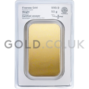 50g Heraeus Gold Bar