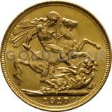 1917 George V Gold Sovereign (Sydney Mint)