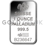 1oz Palladium Bars