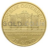 Gold Philharmonic Quarter Ounce Coin (2019)