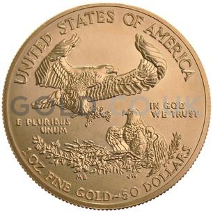 1987 1 oz Gold America Eagle