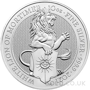 10oz Silver Coin - The White Lion of Mortimer(2021)