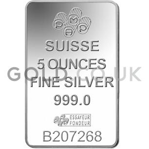 5oz PAMP Silver Bar