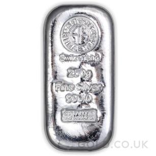250g Argor-Hereaus Silver Bar