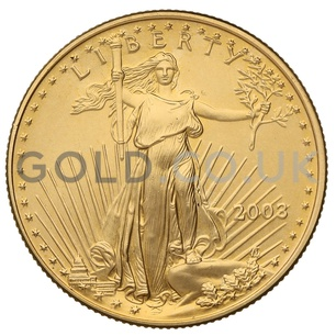 2003 1/2 oz Gold America Eagle