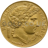 Gold 20 French Franc - Ceres (Best Value)