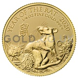 Gold Year of the Rat 1/4oz (2020)