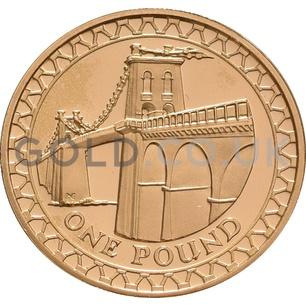 One Pound Gold Coin -Menai Straights (2005)