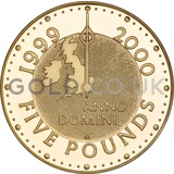 Gold Five Pound Proof Coin, Millennium (1999-2000)