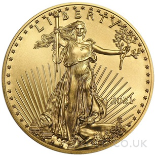 Tenth Ounce American Eagle Gold Coin (2021)