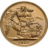 Gold Elizabeth II Sovereign (1982)