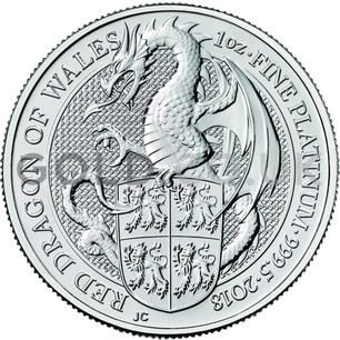 1oz Platinum Coin - The Red Dragon