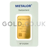 50g Metalor Gold Bar