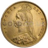 Victoria Jubilee Head Shield Back Gold Half Sovereign
