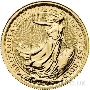 Britannia Half Ounce Gold Coin (2017)