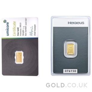 1g Gold Bar (Best Value)